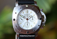 Panerai PAM 225 Submersible Slytech Daylight Chrono White Dial Titanium LTD 47mm.