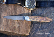 Kansei Damascus Mammoth Ivory Big Joint Folder: $575 USD