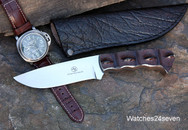 Arno Bernard Crocodile Hornback Fixed Blade with Water Buffalo Sheath