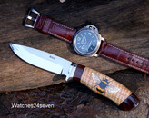 Brodziak & O'Connor Hand Painted Bee, Hunter Fixed Blade