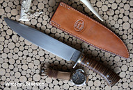 Jerry Fisk Bowie Fixed Blade with Sheath
