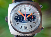 Breitling Vintage AOPA Chrono-Matic Automatic Date Blue & Silver Dial