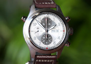 IWC Spitfire Double Chronograph Automatic w Silver Dial 44mm