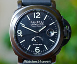 Panerai PAM 28 B Luminor Marina Power Reserve Hobnail Dial PVD 44mm