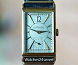 Le Coultre Vintage Art Deco Tonneau Ultra Thin 14 karat Gold Watch