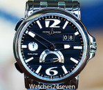 Ulysse Nardin GMT Big Date Dual Time Black Dial Automatic  Steel on Bracelet