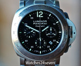 Panerai PAM 236 Luminor Daylight Chronograph on Bracelet 44mm