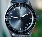 Blancpain Fifty Fathoms Bathyscaphe Grey Sunburst Dial Ceramic Bezel 43mm