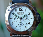 Panerai PAM 188 Luminor Daylight Chronograph White Dial 44mm