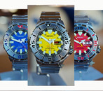 Seiko Monster Set of 3 Limited Edition Color Dial Dive Watches