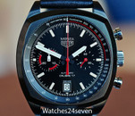 TAG Heuer  Monza Heritage Chronograph Calibre 17  Titanium Black Carbide LTD