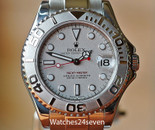 Rolex Yacht-Master Platinum Dial Stainless Steel Automatic Midsize