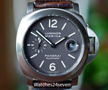 Panerai PAM 240 Luminor Marina Automatic Date Titanium Tobacco Dial 44mm