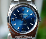 Rolex Air-King Oyster Steel Blue Dial 34mm Ref. 114200