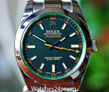 Rolex Milgauss Steel Black Dial Green Crystal 40mm Ref. 116400GV