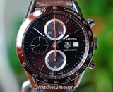 Tag Heuer Carrera Automatic Chronograph Brown-Burgundy 41mm