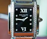 Patek Philippe Twenty-4 Diamond Black Dial Steel Women's Watch