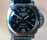 Panerai PAM 233 Luminor 1950 GMT 8 Days Accio Dot Dial 44mm