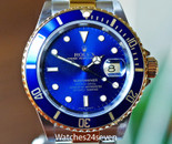 Rolex Submariner 2 Tone 18k Yellow Gold & Steel Blue Dial 40mm with Papers