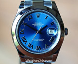 Rolex Datejust II Stainless Steel Blue Dial Roman Numerals 41mm