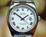 Rolex Datejust Steel White Dial Smooth Bez Oyster Brac 36mm Ref. 116200M ON HOLD