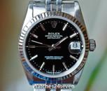 Rolex Datejust Steel Black Dial Fluted Bezel Jubilee Brac 31mm Ref. 68274