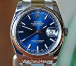 Rolex Datejust 36 Stainless Steel Blue Dial Ref. 11620