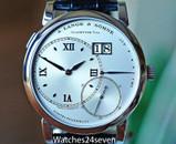 A. Lange & Sohne Grand Lange 1 Big Date Silver Dial Platinum 41.9mm