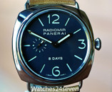 Panerai PAM 190 Radiomir Steel 8 Day JLC Movement 45mm