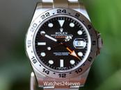 Rolex Explorer II Black Dial Orange Hand Stainless Steel 42mm Ref. 216570