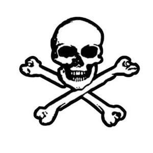 Skull and Cross Bones Cut Out