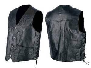 Genuine Hog Leather Vest