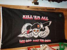Kill Em All 3x5 Flag