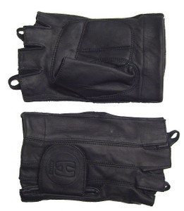 MEN'S FINGERLESS LEATHER GLOVES WITH GEL PALM