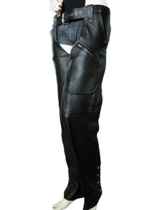 3 Pocket Leather Chap