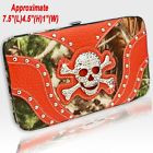 Camo and Orange Skull Wallet