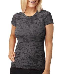 Grey burnout tee shirt