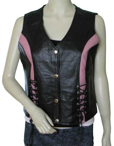 Ladies Pink Crystal Vest
