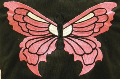 Textile Women's Jacket with PINK butterfly