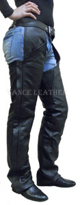 Milled Leather Chap With Thigh Pockets