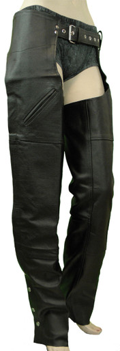 Milled Leather Chap W/Thigh Pockets