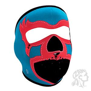Full Mask, Neoprene, Blue Lucha Libre