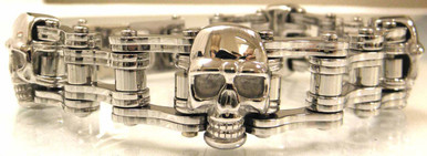 3/4 Silver with Skulls