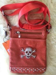 Skull Shoulder Bag Orange