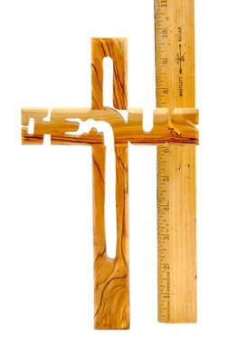 Holding Comfort Cross Clinging Palm Cross Genuine Olive