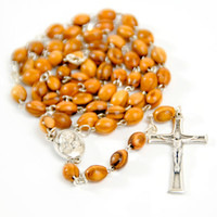 Catholic Rosary with Soil