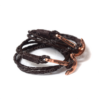 Faith Love Hope - Anchor Bracelet for Men and Women-Durable Wrist Bangle-Unisex Fashion Jewelry (Brown Bronze)