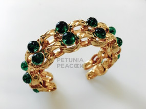 CHANEL CABACHON EMERALD GREEN GRIPOX BRACELET