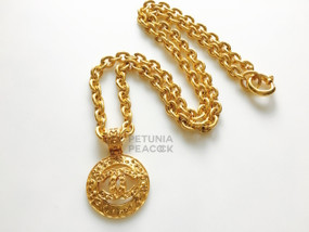 CHANEL BYZANTINE CC LOGO MEDALLION NECKLACE