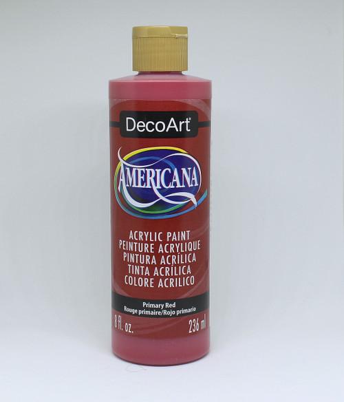DecoArt Acrylic Paint Red 8 Ounce